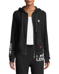 Peace Love World - I Am Light Comfy Zip-front Hoodie - Lyst