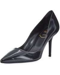 Roger Vivier - Leather Pointed Pump - Lyst