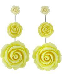 DANNIJO - Beck Rose Drop Earrings Yellow - Lyst