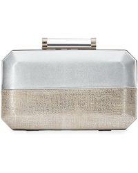 Neiman Marcus - Two-tone Octagon Box Clutch Bag - Lyst