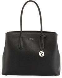 Furla - Onyx Tessa Saffiano Leather Tote - Lyst