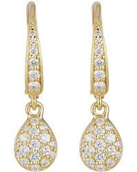 Penny Preville - 18k Gold & Diamond Pear Drop Earrings - Lyst