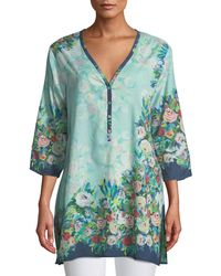 Johnny Was - Aria Floral Button-front Tunic - Lyst