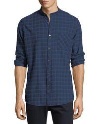 Civil Society - Plaid Tab-collar Button-front Shirt - Lyst
