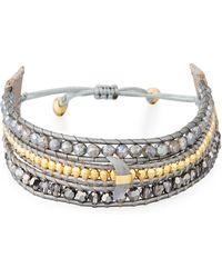 Chan Luu - Three-strand Pull-tie Bracelet In Mystic Labradorite - Lyst