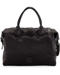 Neiman Marcus - Quilted Satin Weekender Duffel Bag - Lyst