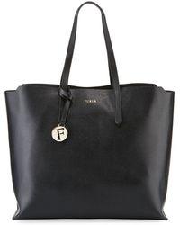 Furla - Sally Large Saffiano Leather Shoulder Tote Bag - Lyst