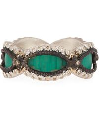 Armenta | New World Teal Mosaic Champagne Diamond Ring | Lyst