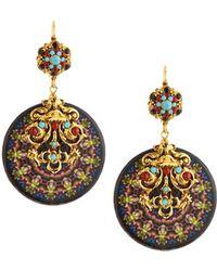 Jose & Maria Barrera - Kaleidoscope Decoupage Medallion Drop Earrings - Lyst