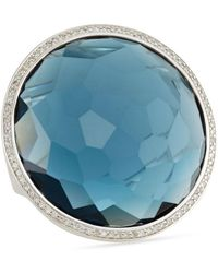 Ippolita - Stella Large Lollipop Ring In London Blue Topaz & Diamonds - Lyst