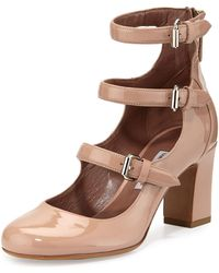 Tabitha Simmons - Ginger Patent Three-strap Pump - Lyst