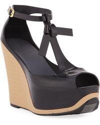 667e0e7f7aa Melissa - Peace Pvc Platform Wedge Sandals - Lyst