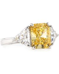 Fantasia by Deserio | Emerald-cut Canary Cubic Zirconia Ring | Lyst