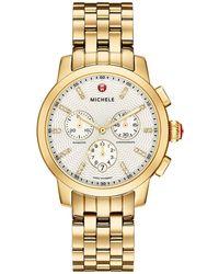 Michele - 39mm Uptown Bracelet Watch W/ Diamonds - Lyst