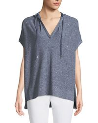 Lafayette 148 New York - Sequined Mouline Oversized Short-sleeve Hoodie - Lyst