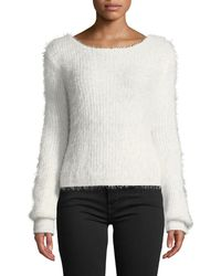 Haute Rogue - Penelope Long-sleeve Fuzzy Sweater - Lyst