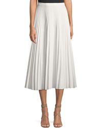 Glamorous - Pleated A-line Midi Skirt - Lyst