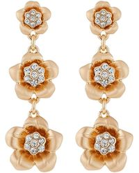Lydell NYC - Three-flower Dangle Earrings - Lyst