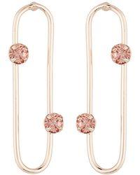 Fragments - Geometric Crystal Post Earrings - Lyst