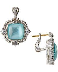 Judith Ripka | La Petite Mother-of-pearl Cushion Drop Earrings | Lyst