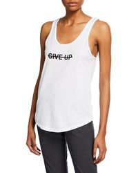Good Hyouman - Don't Give Up Scoop-neck Tank - Lyst