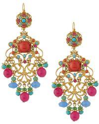 Jose & Maria Barrera - Multicolor Filigree Earrings - Lyst