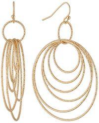 Lydell NYC - Graduating Multi-hoop Drop Earrings - Lyst