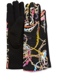 Neiman Marcus - Abstract Embroidery Gloves - Lyst