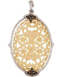 Armenta - New World Diamond & Bone Oval Pendant - Lyst