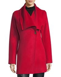 Laundry by Shelli Segal - Shawl-collar Wool-blend Coat - Lyst
