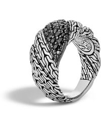 John Hardy - Classic Chain Silver Twisted Lava Ring - Lyst