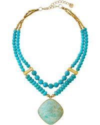 Nakamol - Turquoise Beaded & Amazonite Necklace - Lyst