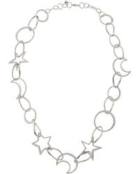 Lydell NYC - Single-strand Cubic Zirconia Celestial Necklace - Lyst