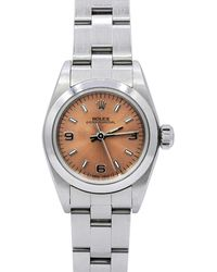 Rolex - Pre-owned 26m Oyster Perpetual Bracelet Watch - Lyst