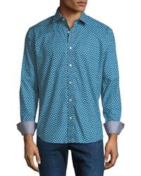 Bugatchi - Men's Shaped-fit Sport Shirt In Woven Shapes - Lyst