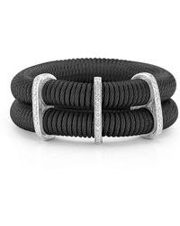 Alor - Noir Double-row Spring Coil Cable & Diamond Bracelet - Lyst