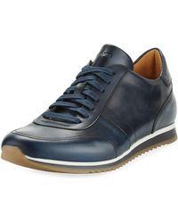 Neiman Marcus - Men's Hand-antiqued Calf Sneakers - Lyst