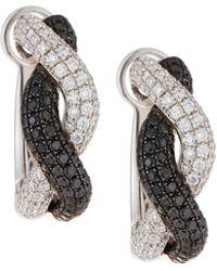 Roberto Coin - 18k Two-tone Diamond Earrings - Lyst