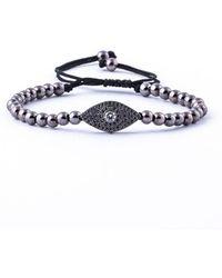 Jared Lang - Men's Pavé Egyptian Eye Beaded Cord Bracelet - Lyst