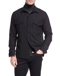 Vince - Twill Military Shirt - Lyst