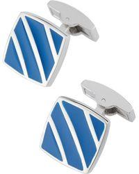 Bugatchi - Square Cuff Links W/ Enamel Stripes - Lyst