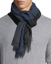 Begg & Co - Kishorn Washed Soho Striped Cashmere Scarf - Lyst