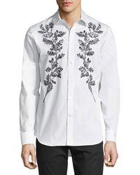 Alexander McQueen - Embroidered Sport Shirt - Lyst