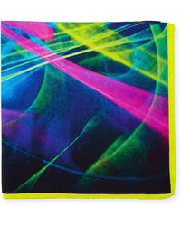 Bugatchi - Graphic-print Silk Pocket Square - Lyst