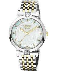 Ferrè Milano - Women's 36mm Stainless Steel Sunray Glitz Watch With Bracelet - Lyst