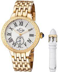 Gv2 - 40mm Astor Bracelet Watch W/ Diamond Bezel & Interchangeable Strap - Lyst