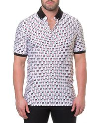 Maceoo - Men's Shaped-fit Black Jack Polo Shirt - Lyst