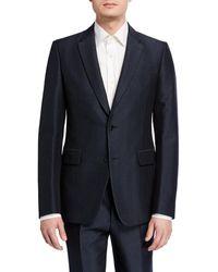 Valentino - Men's Chevron Wool-silk Two Piece Suit - Lyst