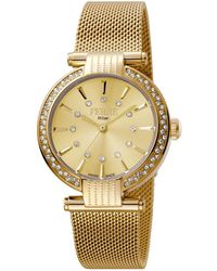 Ferrè Milano - Women's 34mm Stainless Steel 3-hand Glitz Milgrain Watch With Bracelet - Lyst