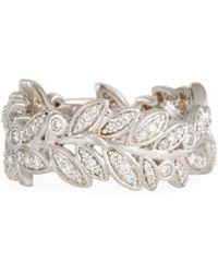 Jude Frances - 18k Sonoma Diamond Leaf Eternity Ring - Lyst